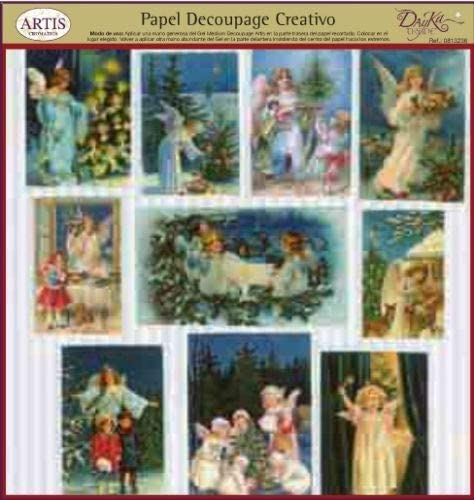 Dayka Trade Decoupage Paper One Size Angels II Multi-Colour Model Cards