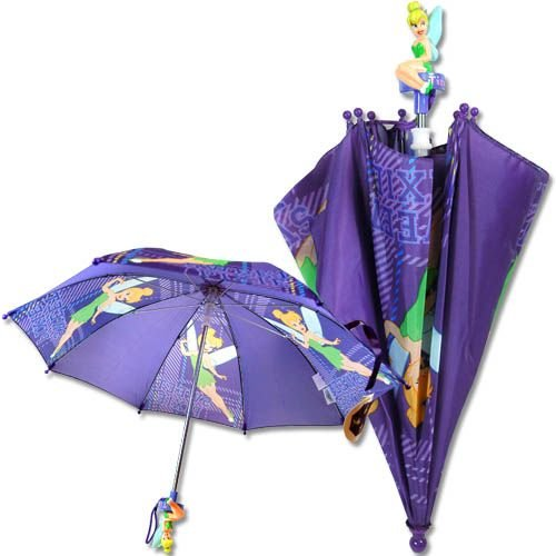 "Disney Tinkerbell Kid 20"" Umbrella 3D Tinkerbell Figurine..."