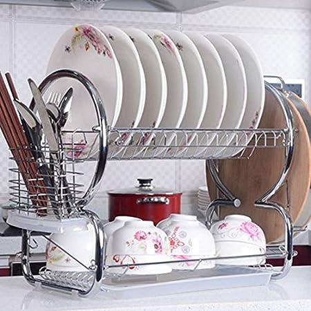 Befied Cucina Bagno in Acciaio INOX Mensola Angolare Rettangolo per Doccia con Ventose, Gancio Doccia Portaposate a Parete