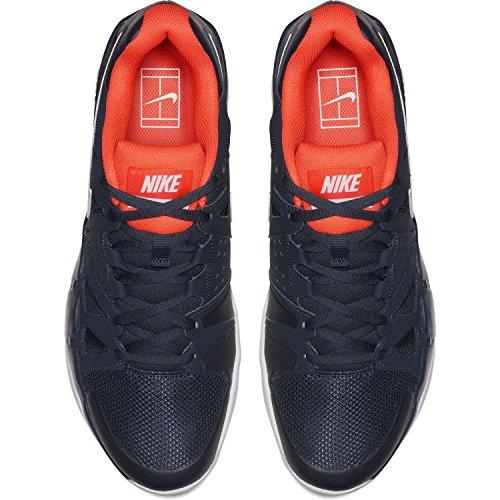 NIKE Mens Air Vapor Advantage Tennis Shoes Thunder Blue/White/Hyper Orange YZmW6Y