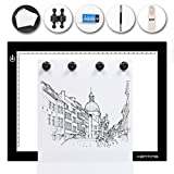 Kenting Magnetic K4M Portable LED Tracing Adjustable Light Pad Light Box Light Table USB Powered Drawing Board Tattoo Pad for Animation, Sketching, Designing, Stenciling X-Ray Viewing
