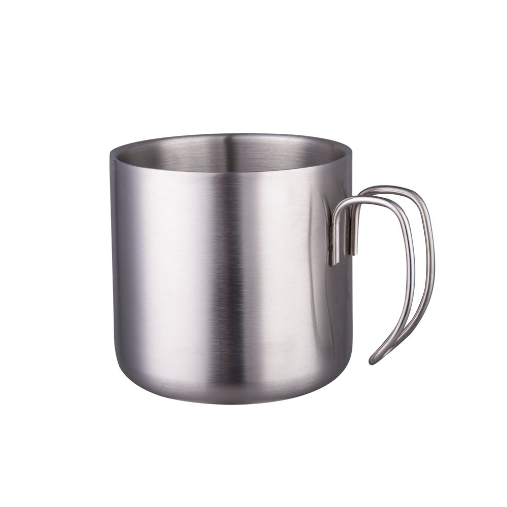 IMEEA Double Wall Coffee Tea Mugs Drinking Cups with Handles for Children Kids SUS304 Stainless Steel, 12oz (350ml)