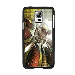 Hi-tech Fantasy Art Aesthetics Architecture Designer Geometric Graphics Print Phone Case for Samsung Galaxy S5 I9600 Abstract Hard Plastic Cover Skin for Boys (0007)