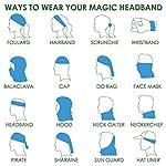 Zupoo 1/4/6PCS 16-in-1 Multifunctional Headband Sports Magic Scarf,Face Sun Mask,Neck Gaiter,Balaclava Headwear,Bandana,for Hiking, Running,Cycling,Yoga,Fishing,Hunting,Skiing & Snowboarding