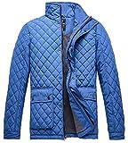 Wantdo Men's Quilted Puffer Jacket Warm Windproof Stand Collar Diamond Coat