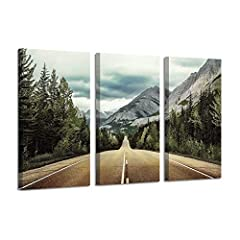 Road art pictures for wall instantly turns any blank area into an eye-catching display, while lending gallery-worthy appeal to your abode. Mountain highway art wall prints pulls any room together, turning houses into homes in the process. Wha...
