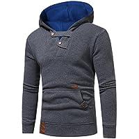 Men Jacket , ღ Ninasill ღ Autumn&Winter Hoodie Hooded Sweatshirt Tops Jacket Coat Outwear (XXL, Gray)