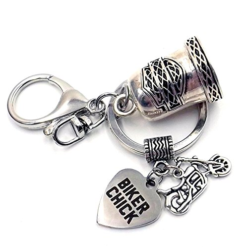 harley-gaelic-protection-bell-keychain-ring-silver-toned-car-bike-accessory-womens