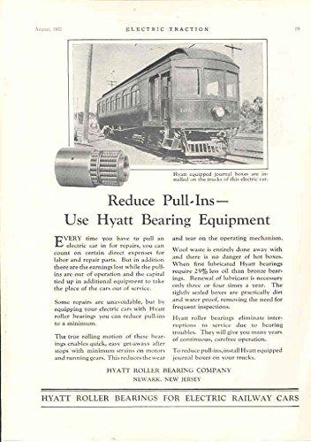 1925 Hyatt Trolley Ad Differential Railroad Car