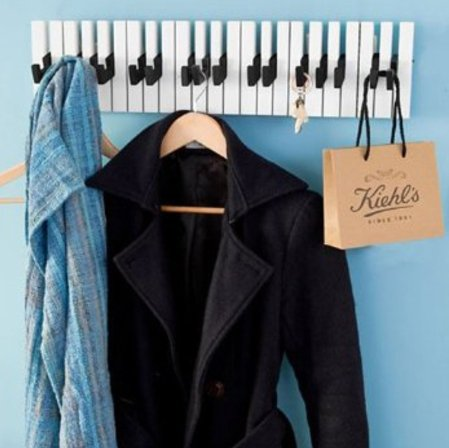 Key Holder Piano by Qualy Design.Unique Design Key Rack for Hallway, Kitchen, Office. (Dance Racks Costumes)