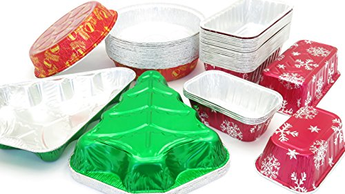 Disposable Holiday Pan Combo Pack. Great for Gifts and Holiday Baking by Durable Packaging