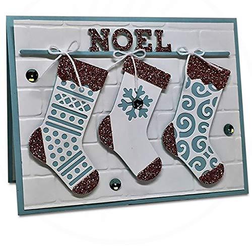 6.2x2.9inch Christmas Stockings 2019 New Die Cuts Metal Cutting Die Craft Die for Scrapbooking Card Making