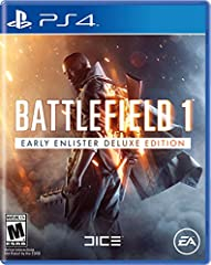 Battlefield 1 Early Enlister Deluxe Edition includes the Red Baron Pack and the Lawrence of Arabia Pack - containing themed weapons, vehicles and items. Plus five Battlepacks containing combinations of items. Exchanges the visual appearance o...