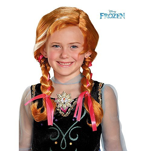 [Disguise Disney's Frozen Anna Child Wig Girls Costume, One Size Child] (Baby Anna Costumes Frozen)