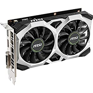 MSI Gaming GeForce GTX 1650 128-Bit HDMI/DP 4GB GDRR5 HDCP Support DirectX 12 VR Ready OC Graphics Card (GTX 1650 Ventus…