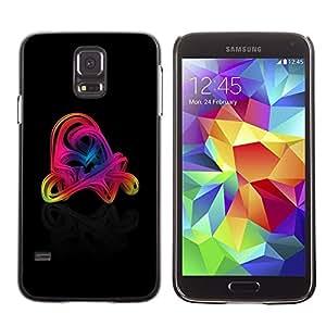 LECELL -- Funda protectora / Cubierta / Piel For Samsung Galaxy S5 SM-G900 -- Colorful Swirls --