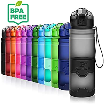 ZOUNICH Botella Agua sin bpa Deporte Botellas ecologica cantimploras para niños Reutilizable tritan plástico 1 l/700 ml/500 ml/400ml- Gimnasio, ...