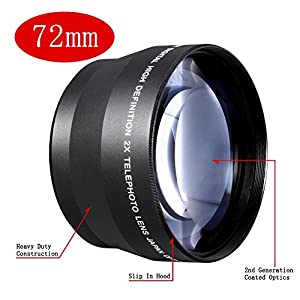 Neewer Professional HD 72mm Telephoto Lens For Canon EOS 40D