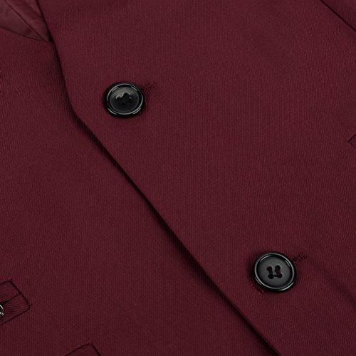 Tueenhuge Mens Top Designed Tuxedo Blazer Suit Vest Waistcoat with Bow Tie