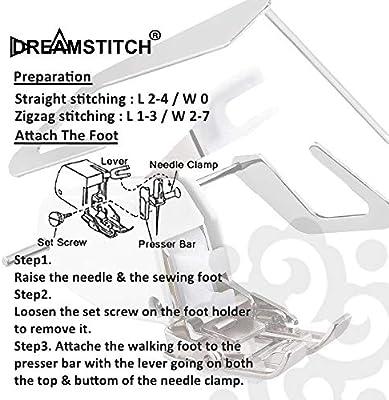 Dreamstich P60444W-Q01-Q02 - Prensatelas de 7 mm para tela gruesa ...