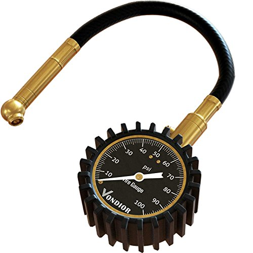 Match Truck - Vondior Heavy Duty Tire Pressure Gauge (0-100 PSI)- Certified ANSI Accurate with Large 2