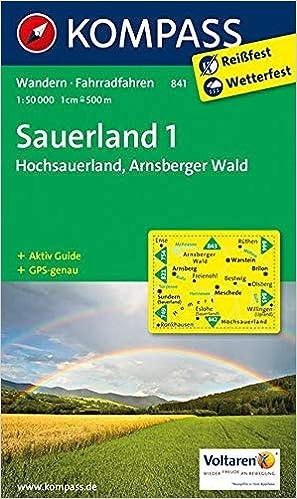 Sauerland Karte.Kompass Wanderkarte Sauerland 1 Hochsauerland Arnsberger