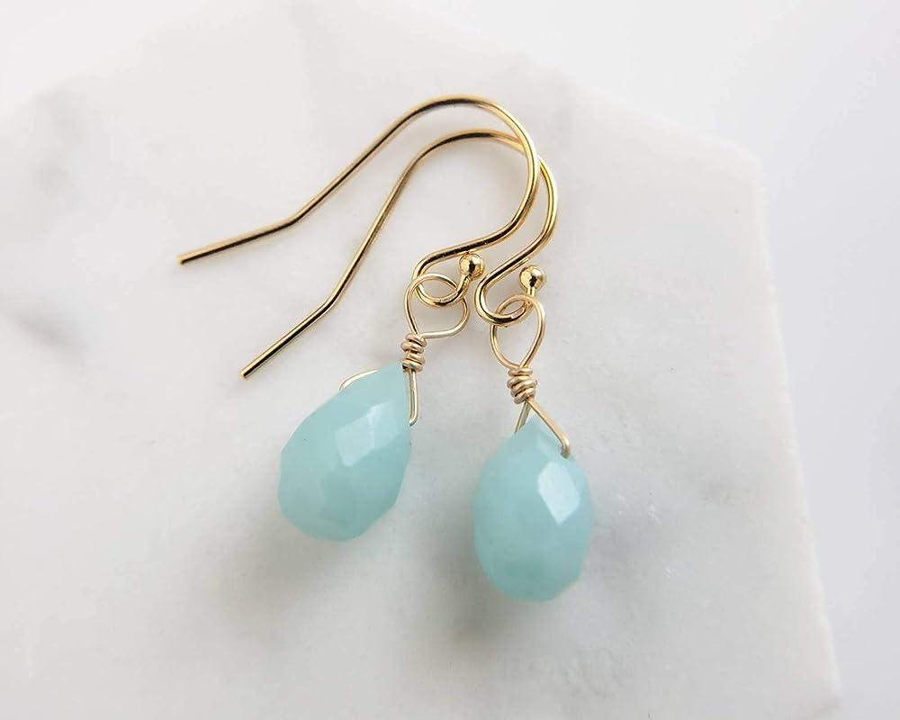 Cloisonn\u00e9 and Champlev\u00e9 Enamels on Fine Silver w Sterling Ear Wires Aqua /& Green Lazy Afternoon Earrings with Teardrop Briolette Peridots