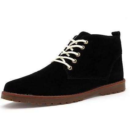 Xiazhi-shoes Botas de Chukka de tormenta de Cuero Original de Gamuza para Hombre (