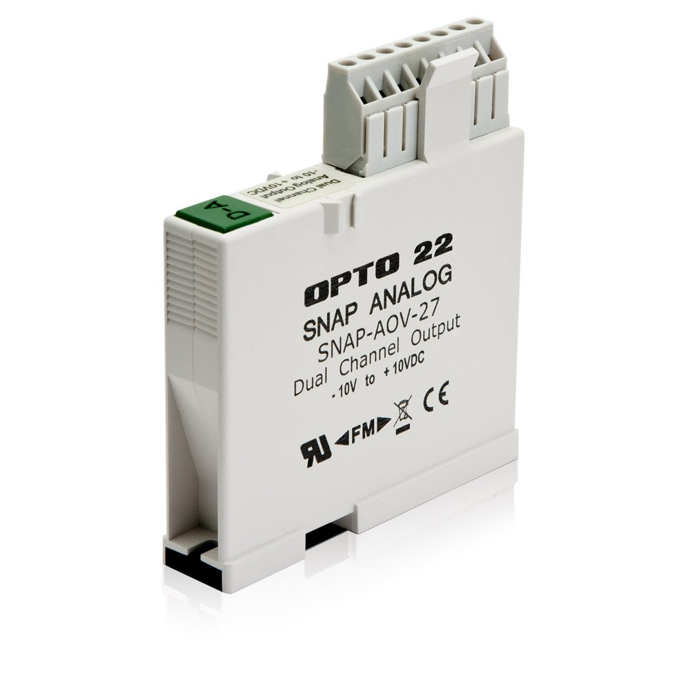 Opto 22 SNAP-AOV-27 - SNAP Bipolar Analog Voltage Output Module, 2-Channel, -10 to +10 VDC Output