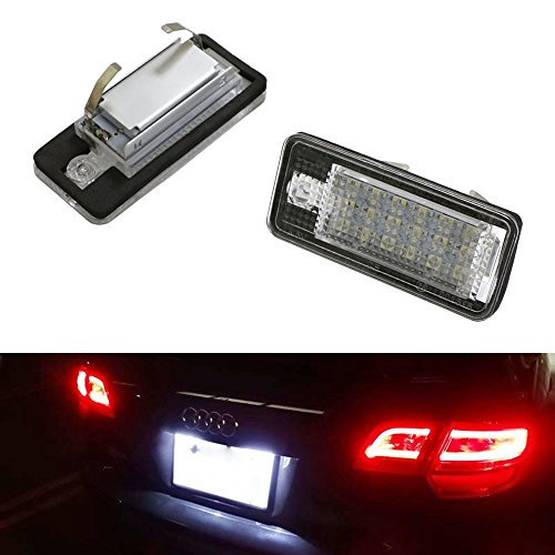 iJDMTOY OEM Replacement Xenon White LED License Plate Light Assemblies For Audi A3 S3 A4 S4 A5 S5 A6 S6 A8 S8 Q7