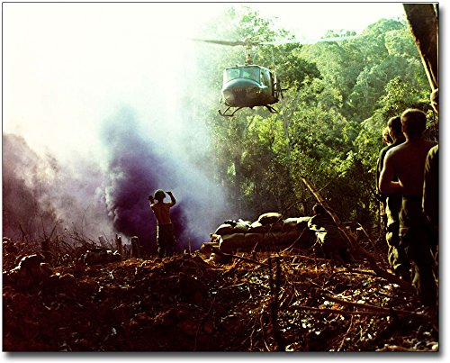 Vietnam War UH-1 Huey Helicopter Approach 8x10 Silver Halide Photo Print by The McMahan Photo Art Gallery & Archive