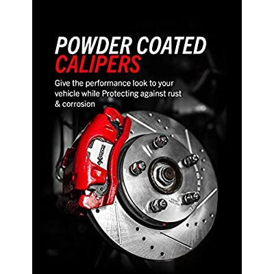 Power Stop KC2139-36 Front Z36 Truck & Tow Performance Brake Kit with Powder Coated Calipers: Automotive