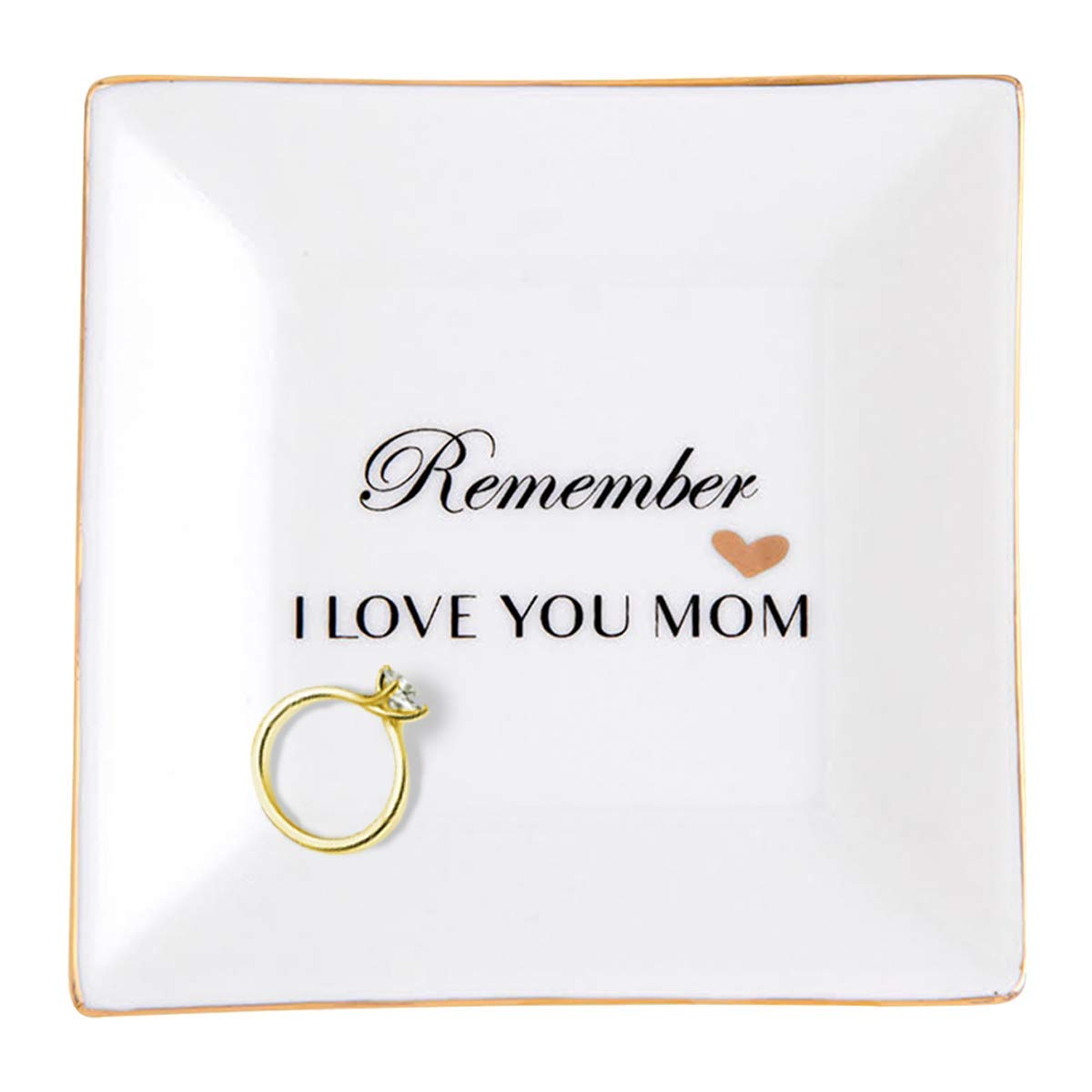FORTIVO Birthday Gifts for Mom, for Mom from Daughter, Mom Trinket Dish, Mother in Law Gifts from Daughter in Law, Ceramic Dish with God Foil, Grandma or Grandmother Gifts, Presents for Mom by FORTIVO
