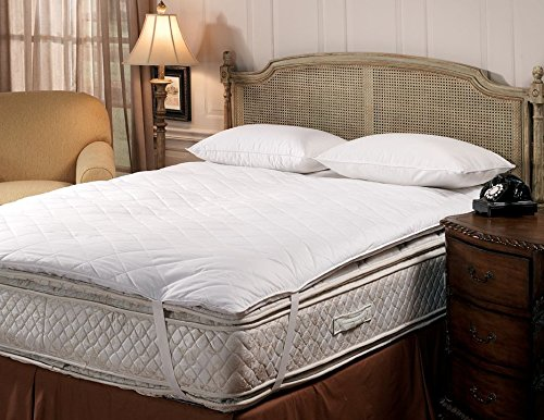 Closeout Sale - Hotel Like Luxury Bedding Collection - Luxury Quilted Pillow Top Feather Bed With Anchor Straps - California King 72'' x 84'' by DOWNLITE