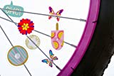 Wheely Bikes Bike Wheel spokes Kit by 36 Different Designs | Cute Biking Accessories for Kids | Colorful Bicycle Spokes Decorations | Cool Cycling Gear Gift for Girls | Spoke Beads Attachments