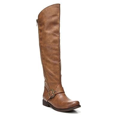 CARLOS by Carlos Santana Women's Gramercy Wide Shaft Cognac Boot ...
