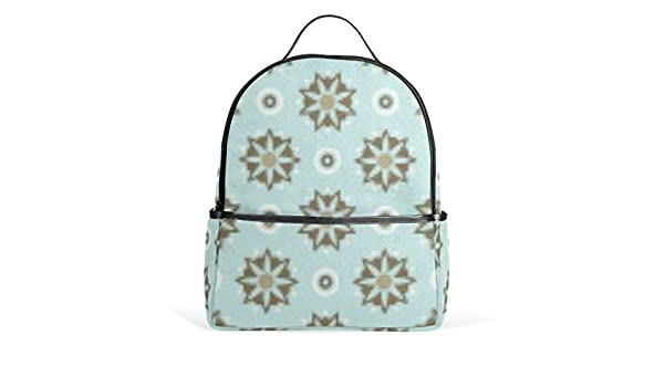 Mr.Weng Colorful Flower Pattern Printed Canvas Backpack For Girl and Children