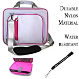 Cheap Magenta Silver Travel Smart Carrying Case with Optional Adjustable Shoulder Strap // Airport Check-Point-Friendly // For HP TouchSmart tm2t Notebook 12.1 inch Screen