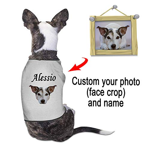 Custom Print Dog - Etype Custom Photo Name Dog Clothes Pet Shirt Dog Sweaters for Small Dogs