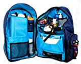 "Okkatots + Travel Baby Depot Bag + Travel Diaper Backpack + Navy + 19"" x 15.5"" x 8.5"""