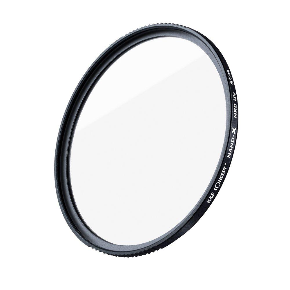 K/&F Concept Filtro Ultravioleta UV/Slim 77mm Vidrio Alem/án Schott con 18 Capas Recubrimiento Multirresistente y Funda