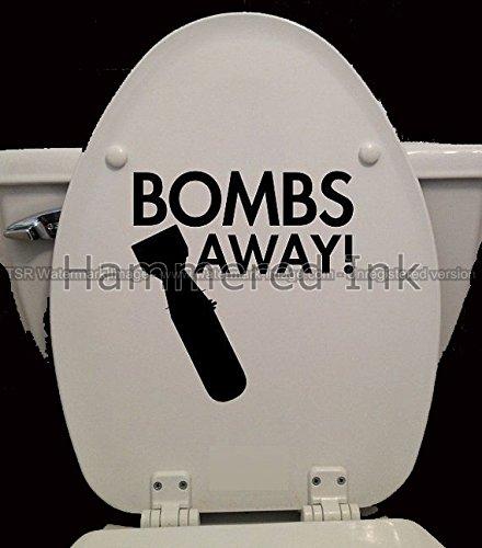 Toilet Seat Sign Bombs Away Die Cut Vinyl Car Decal Window Sticker