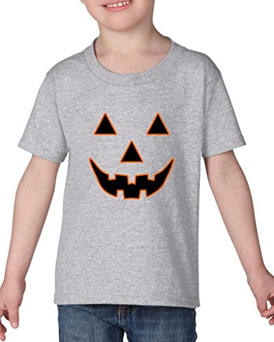 (Xekia Jack O' Lantern Pumpkin Face Halloween Fashion Party People BFF Couples Gifts Toddler Kids T-Shirt Tee Clothing 3T Sport)