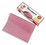 Gentle Meow 50 Sheets Sandwich Burger Donut Anti-oil Packing Paper With Box Rose Red Stripes