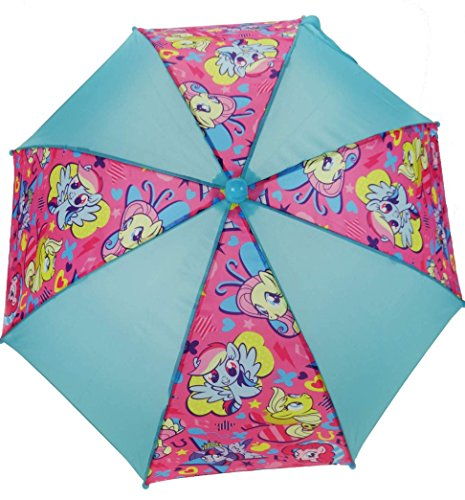 My Little Pony Blue & Pink School Rain Brolly Umbrella -