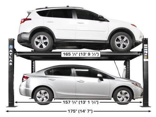 Atlas Apex 8 ALI Certified Hobbyist 8,000 Lb. Capacity 4 Post Parking Car Lift