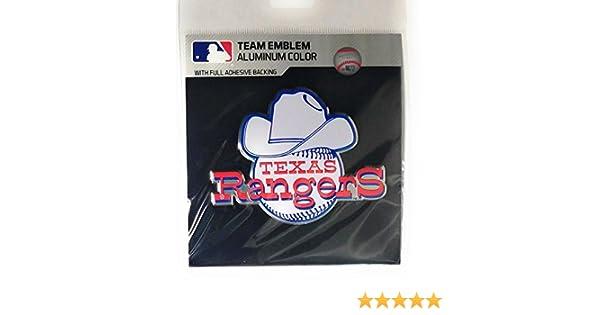 Texas Rangers CE4 Alternate Retro Logo Color METAL Auto Emblem Chrome Decal Baseball