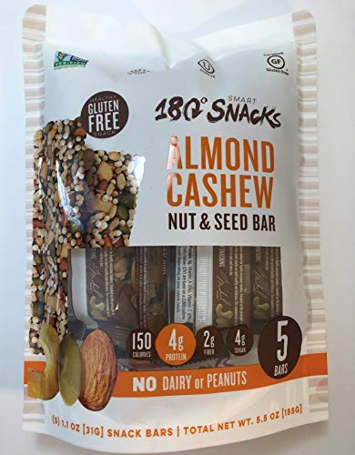 180 Snacks Fruit Nut & Seed Crunch Bar 1 Pack, 5 Snack Bars (Almond ()