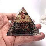 Jet Multi Tourmaline Orgone Pyramid Reiki Ions Generator 2.5 inch Charged EMF Harmonizer Jet International Crystal Therapy Booklet