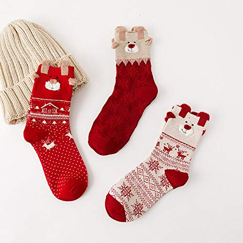 Amazon.com: Christmas Women Cotton Socks Multi-Color Women Winter Socks Calcetines Women Socks Christmas Socks - C: Kitchen & Dining